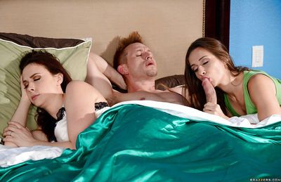 Horny wives Cassidy Klein and Chanel Preston star MILF pornstar threesome