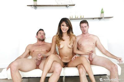 Latina amateur Sophia Leone taking big dicks in MMF threesome sex action - part 2