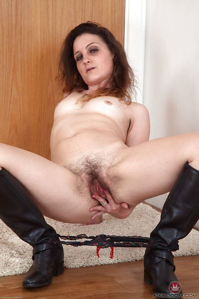Experienced older woman Khalisa flashing panties and escaped pubic hairs - part 2