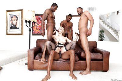 Sexy Sarah Vandella gets BBC double penetration in interracial groupsex - part 2