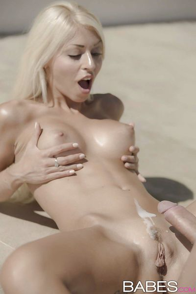 Busty Euro blonde Chloe Lacourt fucking outdoors in swimming pool - part 2