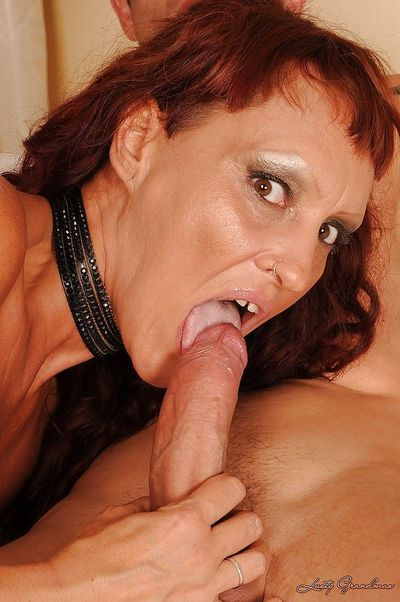 Salacious mature brunette gets her shaved twat pounded hardcore