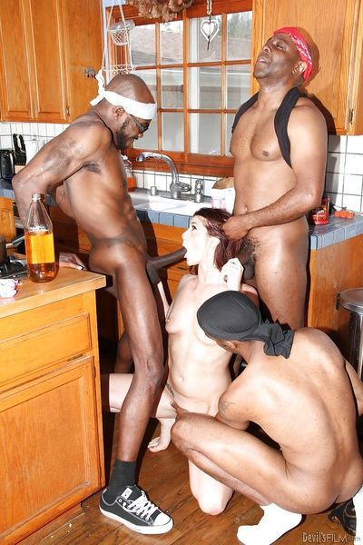 Interracial gangbang scene with Cici Rhodes- who loves groupsex