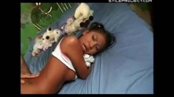 Little Jade Marcela clutches her doll and gets her ass fucked before school