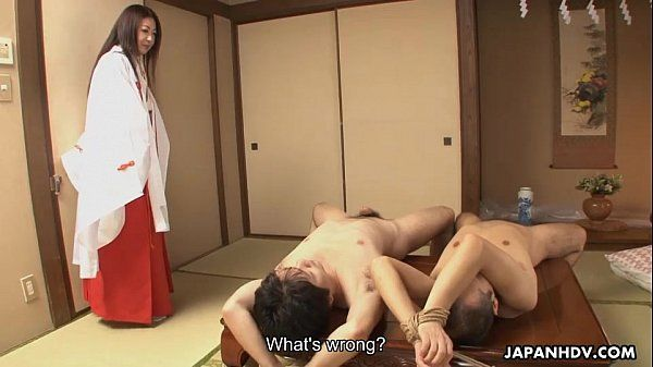 Milf finds two strapped dudes naked she fucks later on
