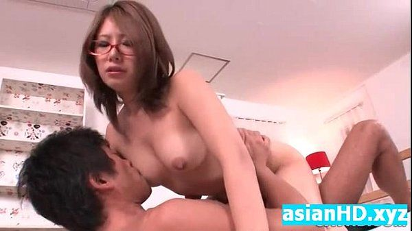 Hot asian teacher gets her hot pussy filled with cum japanese creampie
