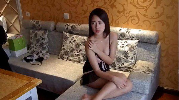 Asian couple making sweet love