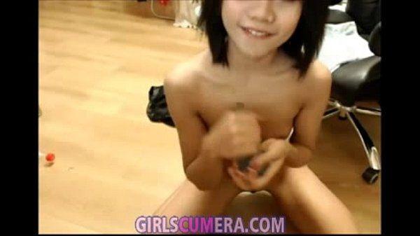 Small asian teen anal and pussy masturbation (amateur, webcam, ass dildo)