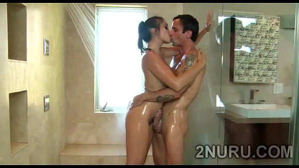 Gorgeous Asian babe with stunning body sucks off perv in shower