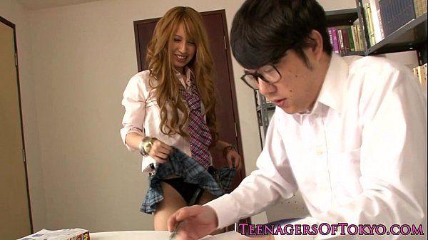 Cockhungry japanese teen sucks and fucks HD