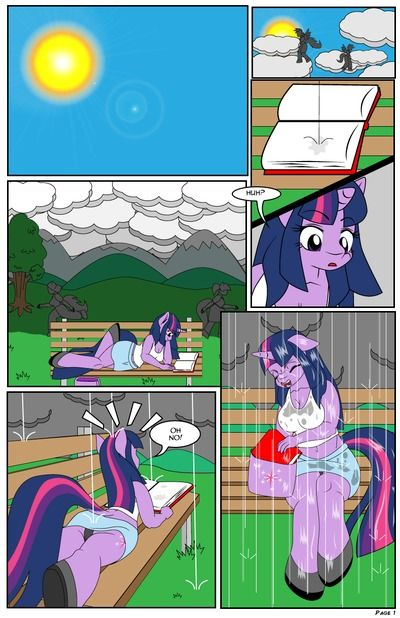 Dekomaru The Hot Room: Soaked (Texted Version) (My Little Pony Friendship is Magic)