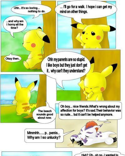 Pikachu and Gomamon (Digimon- Pokemon)