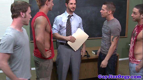 Teacher gets bukkake from student jocksHD