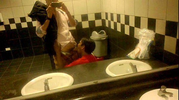 Sucking My Cock in a Public Restroom