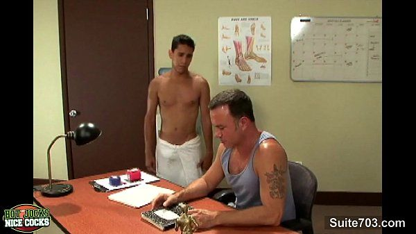 Sexy gay jocks fucking in the officeHD