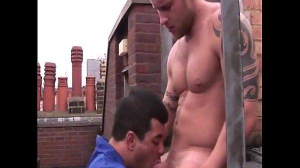 Smoking straight hunk cock sucked deeply