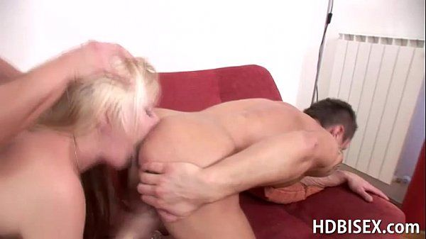 Blonde Enjoys a Rough Bisexual MMF