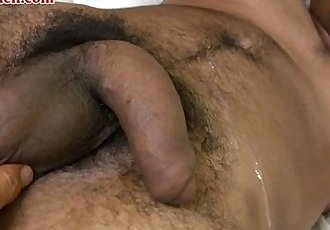 naked Latin man jerk off