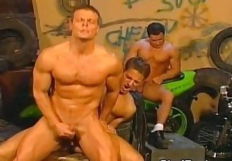 Amazing bikers gay orgy outdoors