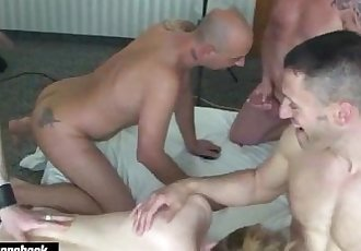 Drew Driver at a gangbang party