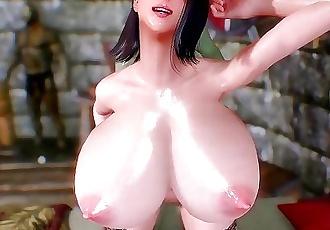 Big Tits Futa Orc stocking heels 3D Hentai