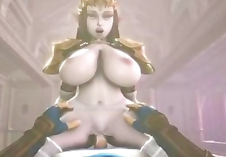 Princess Zelda titfucks and riding cock POV
