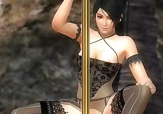 Dead or Alive 5 1.09 - Momiji Pole Dancing on the Beach w/ Sexy Outfits #1