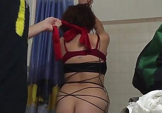 Girl tied up and fucked for first time anal till she cries