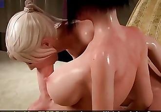 3D Hentai Shemale Lesbian Massive Cock POV