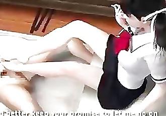 Unemaro 3D anime footjob