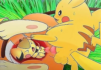 Pichu ,pikachu and Raichu ? MEGA Penetration (HENTAI) 91 sec 720p
