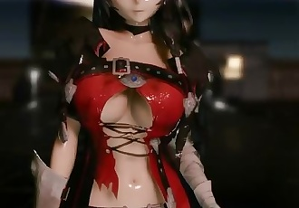3D MMD Velvet Crowe Strips in Pink Cat