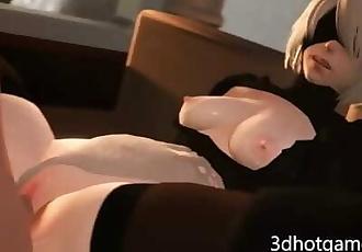 3D NieR automata hard fuck by big dick