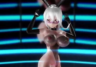 MMD Nicely Shaped Haku Performs In Glasses