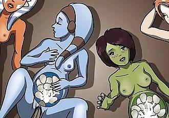 Star Wars A Geonosian Incubation Ahsoka Tano Hentai Comic