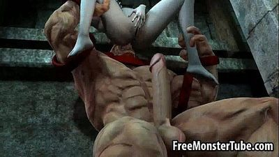 Foxy 3D babe getting fucked hard by The Juggernautnoutvsdumino-high 1 - 3 min