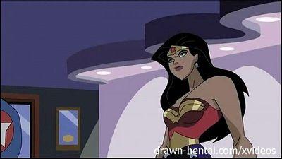 Superhero Hentai - Wonder Woman vs Captain America - 8 min