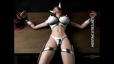 Hottie 3D hentai slave gets tied up - 5 min