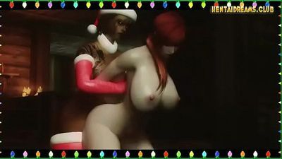 Really Hot Futa Xmas - More at WWW.HENTAIDREAMS.CLUB - 5 min
