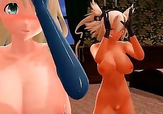 3D MMD Shake It Off with Atago and Musashi