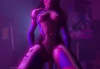 Overwatch D.Va Rough Sex