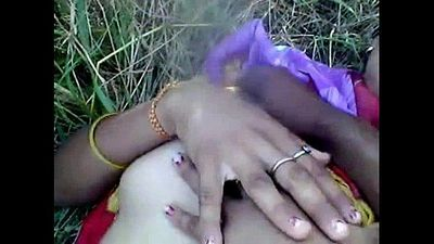 Desi girl enjoying with boyfriend in outdoor - 2 min