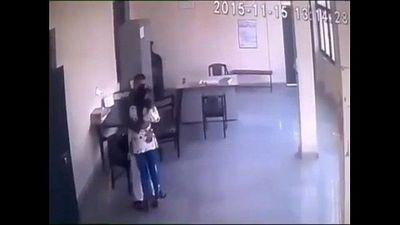 Director and teacher romance in staffroom - 1 min 26 sec