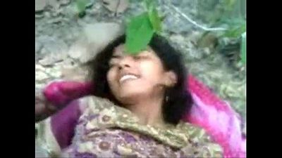 Indian 19y cute muslim teen virgin pussy nipples first time fuck outdoor jungle - 3 min