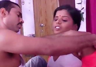 Hot desi shortfilm 74 - Aunty big boobs squeezed hard in white bra, smooch