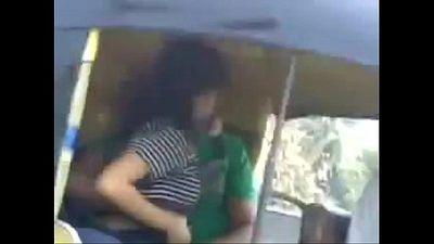 Indian Couple Having fun outdoor in mumbai road autowala - 3 min