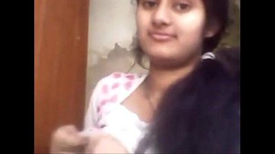 Cute Indian Girl Showing Her Boobs - 2 min