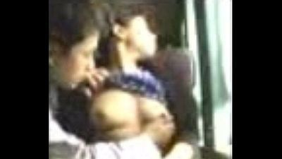 North Indian girl smooched and boobs sucked secretly, desi Indian sex - 2 min