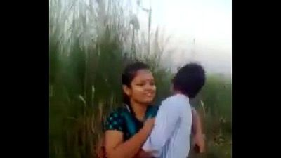 Desi Couple Romance And Kissing In Fields Outdoor - 1 min 23 sec