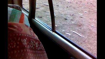 Indian maid enjoyed by her boss in car - 2 min